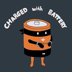 Charged With Battery Pun
